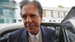 Charles Saatchi arrives at his home in west London on June 18, 2013