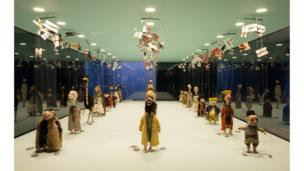 Wael Shawky ceramic marionette installation at the Serpentine Gallery