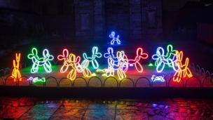 Neon puppies