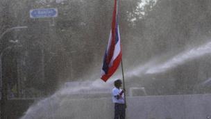 Protester in Bangkok, Thailand, 1 Dec