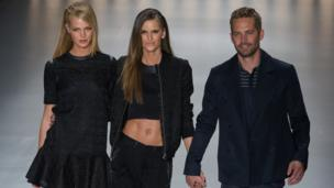 Paul Walker at fashion show in Brazil, 2013