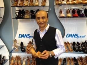 Rashmi Patel holding shoe