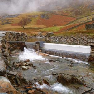 Hydro electric scheme at Hafod Y Llan farm near Beddgelert