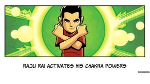 Chakra crosses his arms in front of him