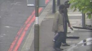 Michael Adebolajo walking back to the south footpath of Artillery Place