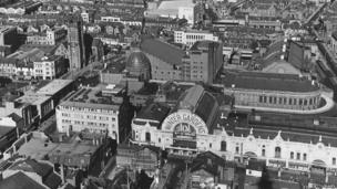 Aerial view of the Winter Gardens