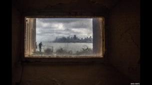 San Francisco from inside Alcatraz, USA