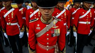 Thai royal guards