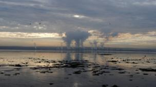 Clouds from the Grangemouth complex meet the clouds in the sky. Stewart Kershaw was visiting family in Torryburn in Fife and took this photo from Culross.