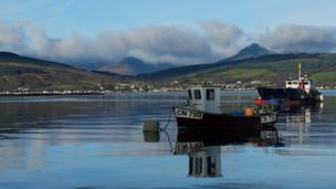 Diana Carswell calls this photo Davy's boat. It was taken at Kings Cross, Isle of Arran, looking towards Lamlash