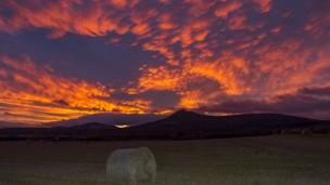 Photo taken outside Chapel of Garioch just after Gary Morrison, from Inverurie, finished work for the day. He says he had to go and take advantage of the beautiful sunsets we have had this past few weeks.