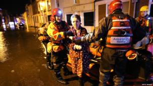 Woman in rescued on the High Street in Boston