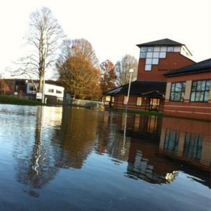 Boston College under water