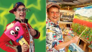 Timmy Mallet still does panto and tours with his mallet, but paints in his studio every day