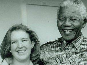Jennifer Smit with Nelson Mandela