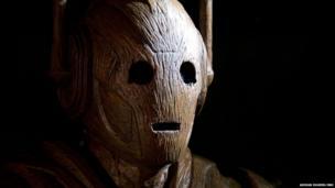 A wooden Cyberman