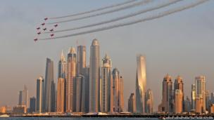 Red Arrows in Dubai
