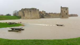 Flint Castle moat