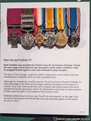 7. Victoria Cross awarded to Piper George Findlater