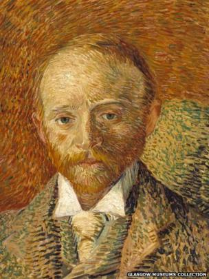 1. Oil painting, Portrait of Alexander Reid, 1887 by Vincent Van Gogh