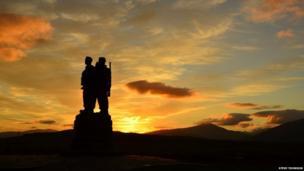 Commando's Memorial just outside Fort William in Scotland