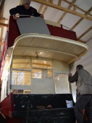B-type bus being restored