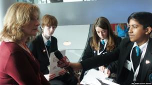 School Reporters interviewing Susan Rae