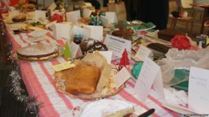 A vast selection of cakes on sale at the Pop-Up Cake Shop