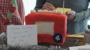 Martha Kearney's radio shaped cake