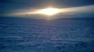 Sun over Isle of Yell