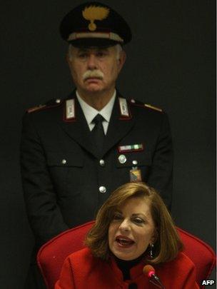 Italian prosecutor Maria Teresa Principato gives a press conference in Palermo, 13 December