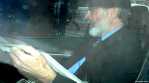 Gerry Adams arriving at court