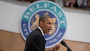 Obama in Belfast