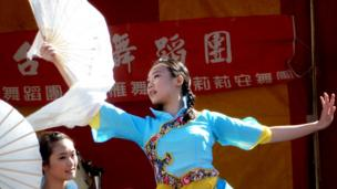 A dancer at Alnwick's International Music Festival