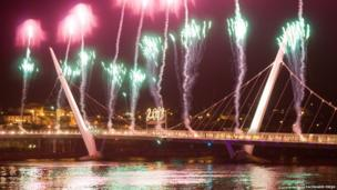 Fireworks on Foyle