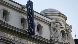 The exterior of the Apollo theatre