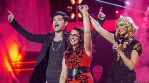 Andrea Begley winning The Voice 2013