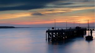 Aberdyfi jetty, Gwynedd