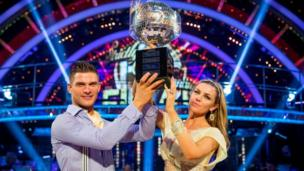 Abbey Clancy and dance partner Aljaz Skorjanec