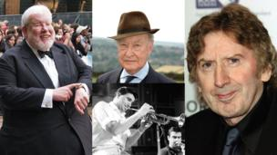Clockwise from left: Richard Griffiths, Frank Thornton, James Herbert, Kenny Ball
