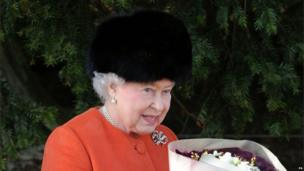 Queen Elizabeth after the traditional Christmas Day church service at St Mary Magdalene Church on the royal estate in Sandringham