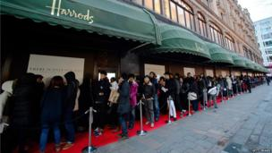 Harrods sale, Knightsbridge, London