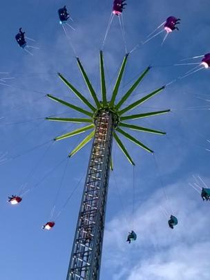 Fairground ride in Edinburgh