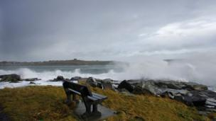 Waves at Lerwick in Sheltand