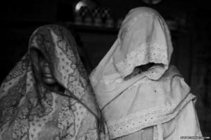 Zarina, 55, (left) and her daughter-in-law Waseema, 17, lost their husbands in the violence