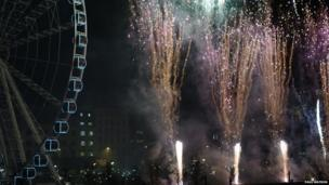 Fireworks in Manchester. Photo: Paul Watson