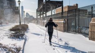 Skiing in New York. Photo: Lem Lattimer