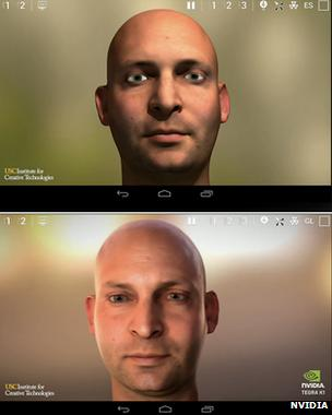 Face graphics demonstration