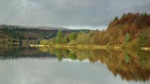 Reflections at Llwyn Onn Reservoir