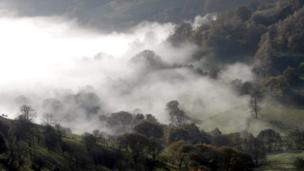 Early morning mist in the Dee Valley